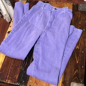 Vintage lilac color hi waist skinny jeans